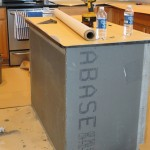 Kitchen Island After Cement Board Installation Before Tile Installation