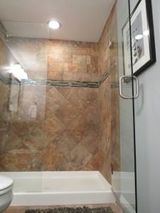 Tile Shower In Ohio Basement