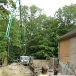 Room Addition Foundation Concrete Pump