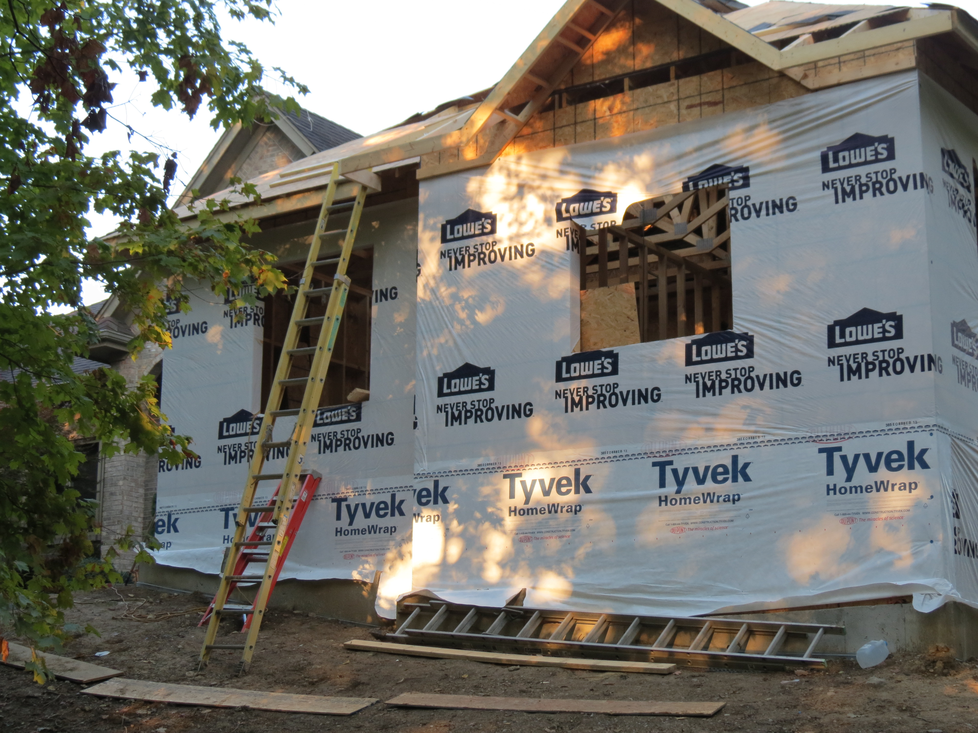 Front picture of addition framing