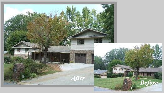 Garage Building Before and After