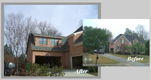 Attached garage addition before and after home desain 2018 for How much does an addition over the garage cost
