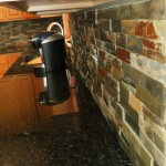 Finished Slate Tile Backsplash Installation Dayton Ohio