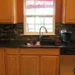 Finished Kitchen Sink Picture and Granite and Tile Installation Dayton Ohio